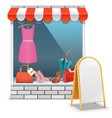 Boutique with Billboard vector image vector image