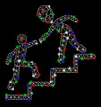 bright mesh network alien training help with flash vector image vector image