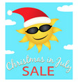 christmas in july sale vector image