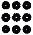 circular saw blades vector image vector image
