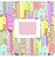 city background frame vector image vector image
