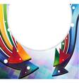 Color arrows frame vector image vector image