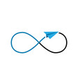 constant flights and infinity sign vector image