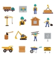 Construction Icon Flat vector image vector image