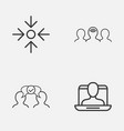corporate icons set collection of coaching vector image vector image