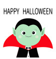 count dracula headwearing black and red cape cute vector image