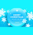 creative christmas banner with volumetric vector image vector image