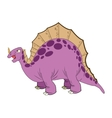 cute cartoon stegosaurus comic draw vector image