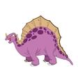 cute cartoon stegosaurus comic draw vector image vector image