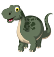 cute dinosaur cartoon posing vector image vector image