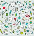 dental seamless pattern sketch for your design vector image vector image