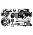 design elements of car repair vector image vector image