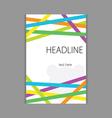 design headline cover vector image vector image