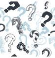 doodle interrogation marks seamless vector image