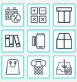 e-commerce icons set includes icons such as vector image