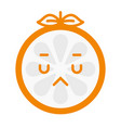 emoji - sad orange feeling like crying isolated vector image