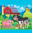 farm animals theme image 1 vector image vector image
