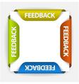 feedback stickers vector image vector image