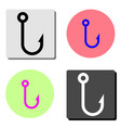 fishing hook flat icon vector image