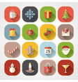 Flat christmas icons for web and applications vector image vector image