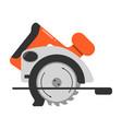 flat icon circular saw steel vector image