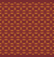 flowers pattern ornament brown vector image