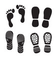 footprint silhouettes icon boots and vector image vector image
