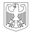 German coat of arms icon outline style vector image vector image