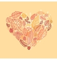 heart autumn leaves vector image vector image