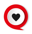 heart icon round icon flat design vector image vector image