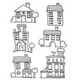 house set with hand draw collection vector image vector image