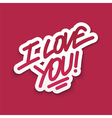 I love you st Valentine card vector image