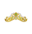 icon of beautiful princess tiara decorated vector image