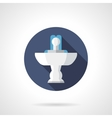 Indoor fountain round flat color icon vector image vector image