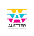 letter a - logo template concept vector image vector image