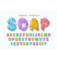 linear bubble comical font design colorful vector image
