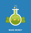 make money flat design concept vector image vector image