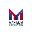 maximum corporation letter m icon