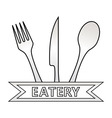 metal eatery symbol on white background vector image