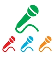 Microphone sign Colorfull set vector image vector image