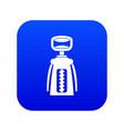 modern corkscrew icon digital blue vector image vector image