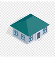 one storey house isometric icon vector image vector image