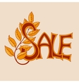Sale lettering Design Template vector image vector image