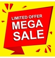 Sale poster with LIMITED OFFER MEGA SALE text vector image