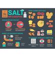 salt infographic vector image vector image