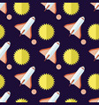 seamless pattern with rockets and sun isolated vector image vector image