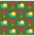 Seamless pattern with snails and flowers vector image