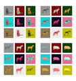 set of in flat style pig horse cat german shepherd vector image vector image