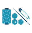 Sewing equipment and needlework set vector image