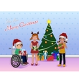 Share Cristmas for Special needs children vector image vector image